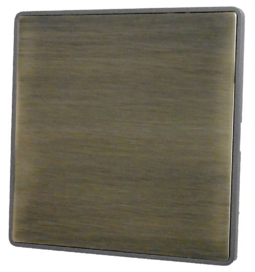 Screwless Plate Antique Bronze